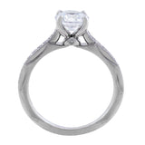 18kt White Gold Classic Semi-Mount Setting