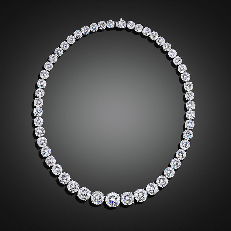 Platinum 100ct Diamond Necklace, GIA Certified
