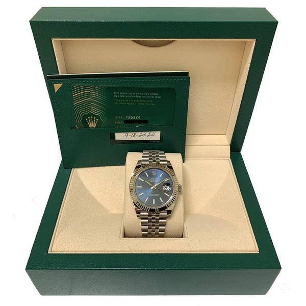 Rolex DateJust 41mm Blue Dial 126334 - Pre-Owned