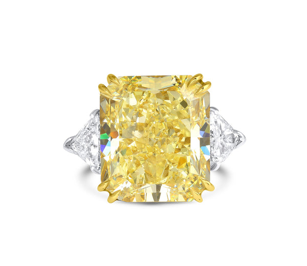 19ct Fancy Yellow Diamond Ring