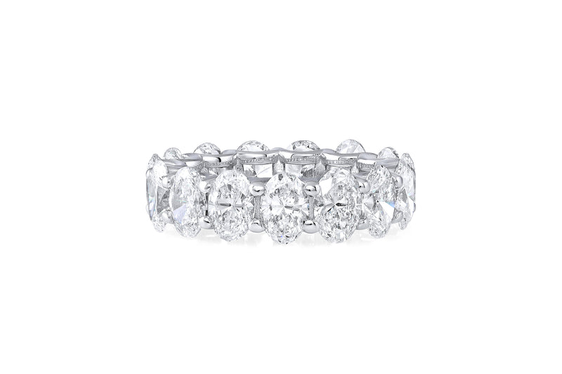 Riviere Platinum Oval Diamond Eternity Band