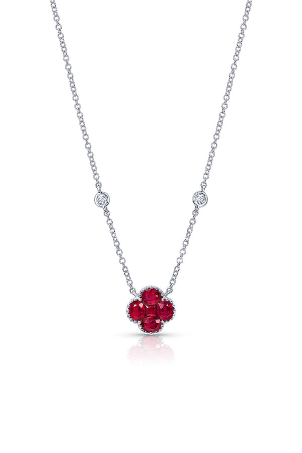 Ruby Quatrefoil Necklace