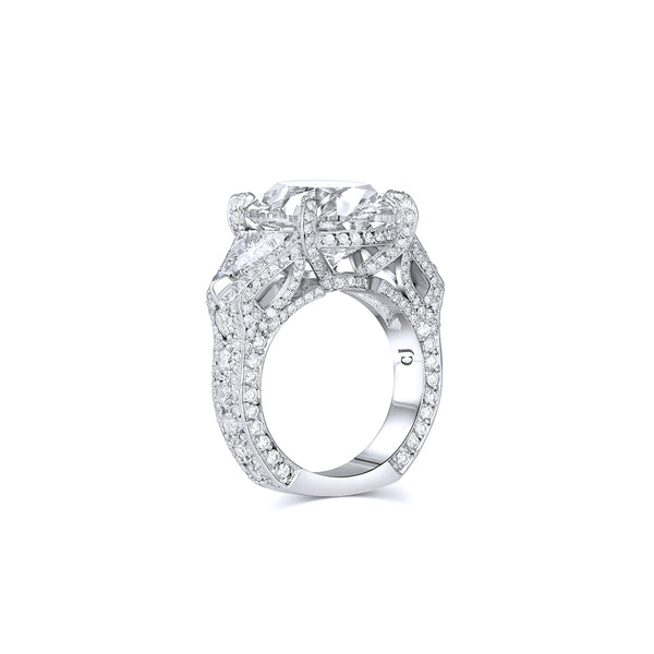 Rivière Platinum 13.96ct Oval Diamond Ring, GIA Certified