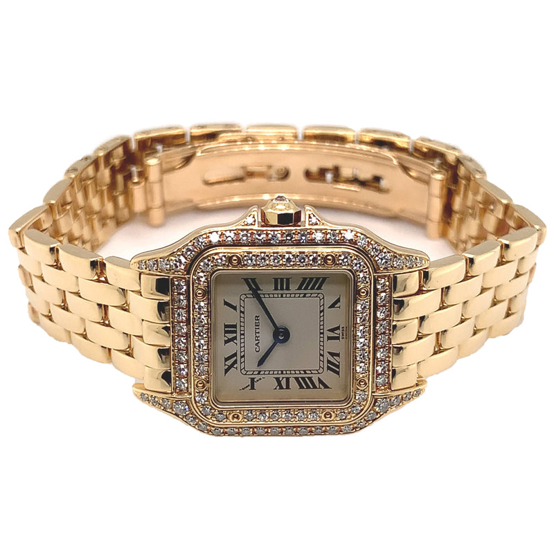 Cartier Panthere Small 18k Yellow Gold Factory Diamonds - Certified Pre-Owned