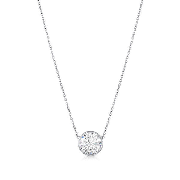 Rivière 3.01Ct Diamond Solitaire Necklace, GIA Certified