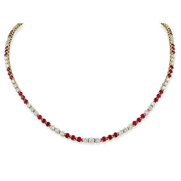Tiffany & Co. Victoria Collection Ruby Diamond Necklace - Estate
