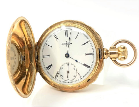 Elgin Pocket Watch 14K Yellow Gold Hunter Case - Certified Pre-Owned