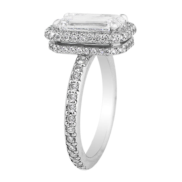 3ct Emerald Cut Diamond Ring