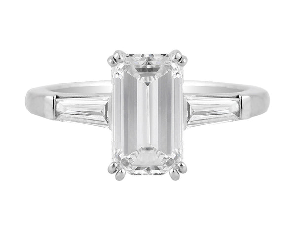 2ct Internally Flawless Emerald Cut Diamond Ring