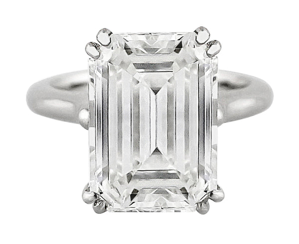 7ct Emerald Cut Diamond Platinum Ring