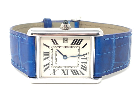 Cartier Tank Louise 18KT WG 25.5MM Silver Dial 2678 - Pre-Owned