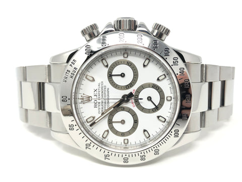 Rolex Daytona White Dial Chronograph Steel 40MM 2005  - Pre-Owned