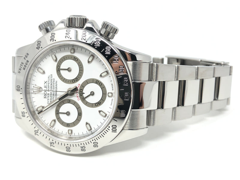 Rolex Daytona White Dial Chronograph Steel 40MM 116520  - Pre-Owned