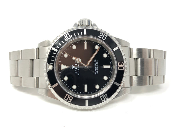 Rolex Submariner Steel 40MM Black Dial 14060 - Certified Pre-Owned