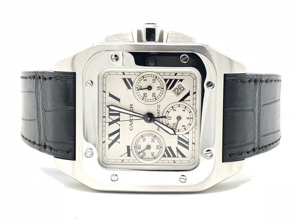 Cartier Santos 100 XL Chronograph 3 Subdials 41MM W20090X8 - Certified Pre-Owned