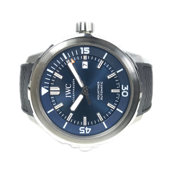 IWC Aquatimer Blue Steel/Rubber 42mm IW329005-Certified Pre-Owned