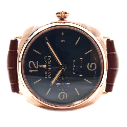 Panerai Radiomir 8 Day GMT Oro Rosso PAM00395 - Certified Pre-Owned