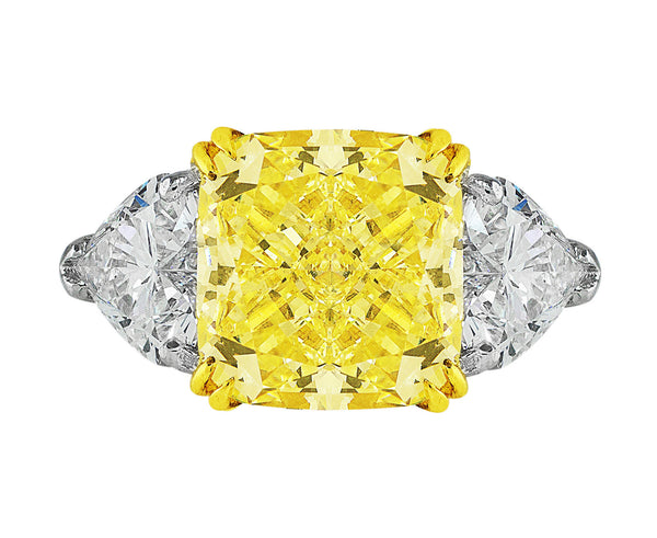 5ct Fancy Yellow Diamond Ring