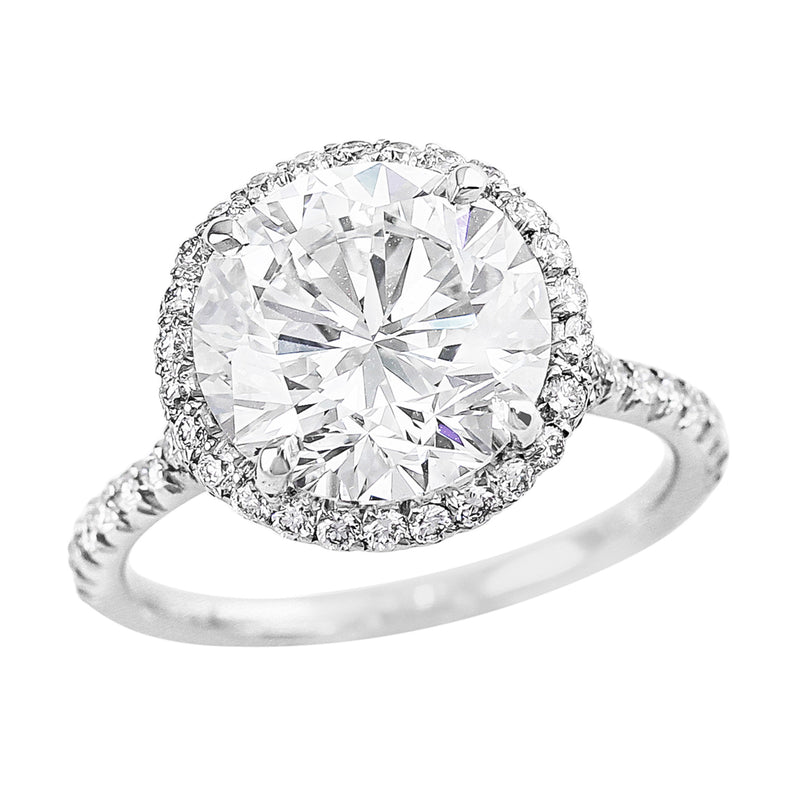 GIA-certified 4ct Round Diamond Ring