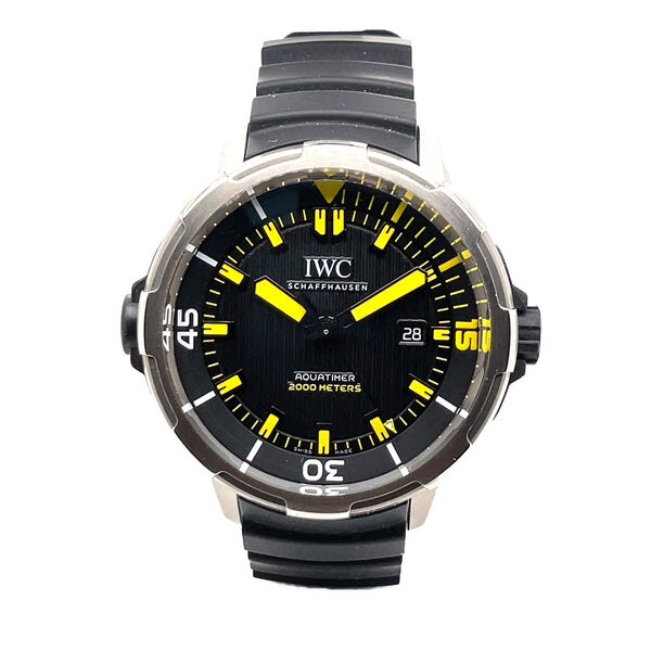 IWC AQUATIMER 2000 46MM STEEL BLACK & YELLOW IW358001 - CERTIFIED PRE-OWNED