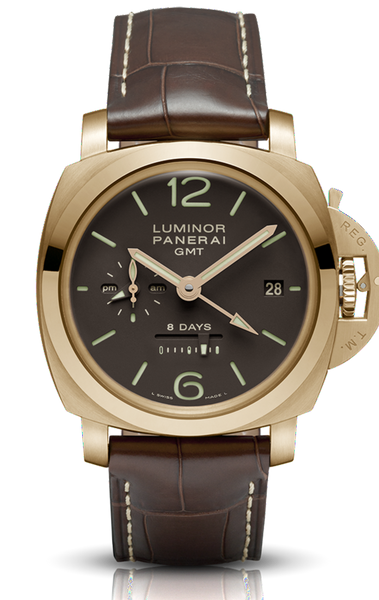 Panerai Luminor 1950 8 Days GMT Oro Rosa 44mm PAM00289