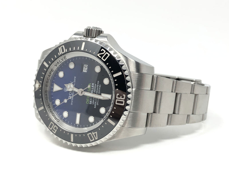 Preowned Rolex James Cameron Deep Sea Sea-Dweller Steel 44MM 116660 - side angle