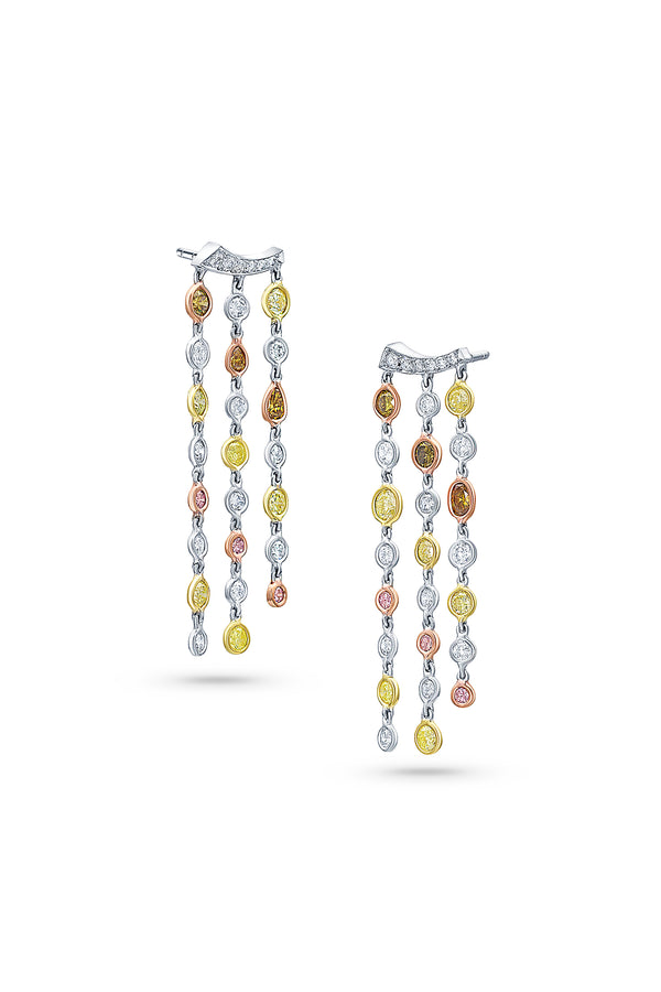 Rivieré Multicolor Diamond Earrings
