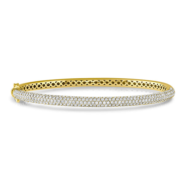 18k Yellow Gold 2.75ctw Bangle Bracelet