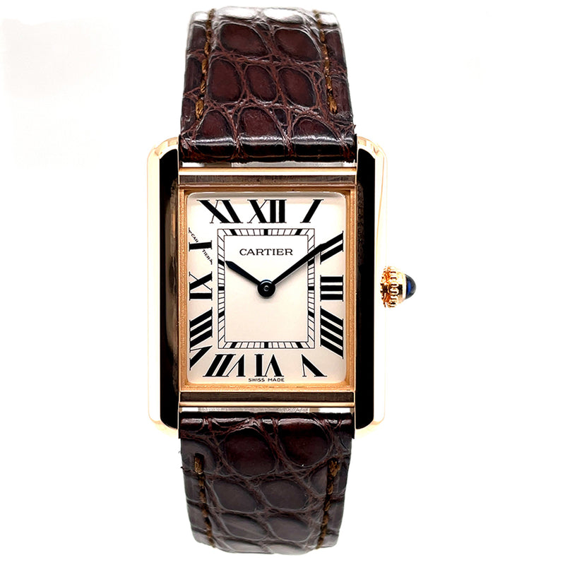 Cartier Tank Solo Rose Gold Small Model W5200024 - Certified Pre-owned