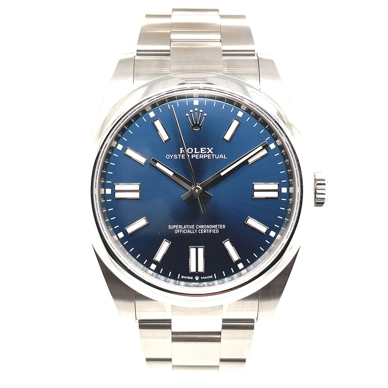 Rolex Oyster Perpetual 41mm 124300 Bright Blue Dial - Pre-Owned