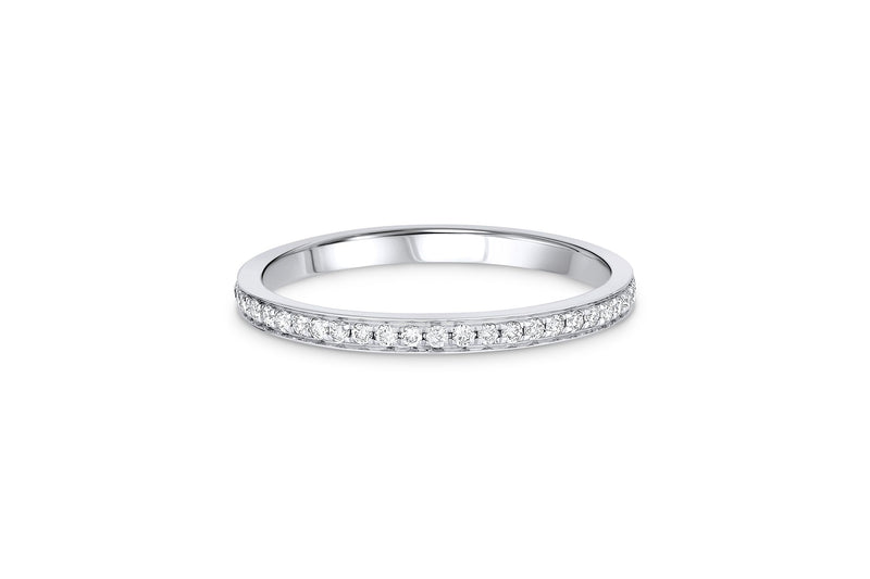 18kt White Gold 0.20ctw Diamond Halfway Band