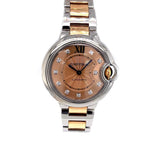 Cartier Ballon Bleu Rose Gold/Stainless Steel 33mm WE902053-Certified Pre-Owned