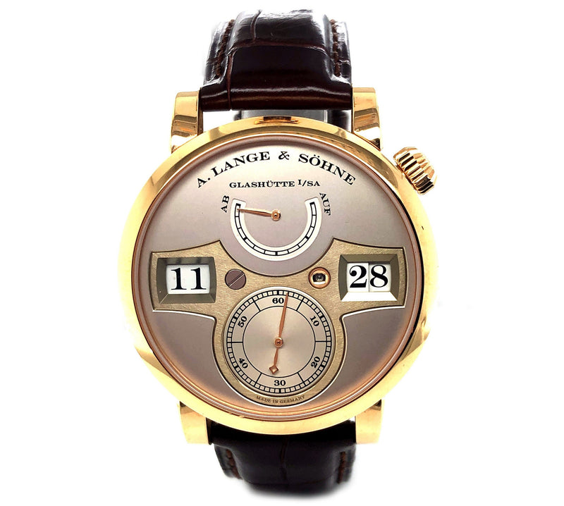 A. Lange & Sohne Zeitwerk 18k Rose Gold 140.032 - Certified Pre-Owned