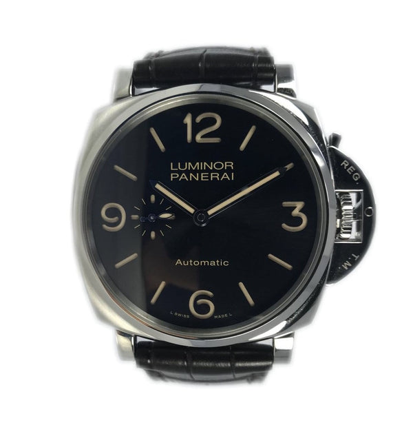 Panerai Luminor Due 3 Days Acciaio Black/Steel PAM00674 - Certified Pre-Owned