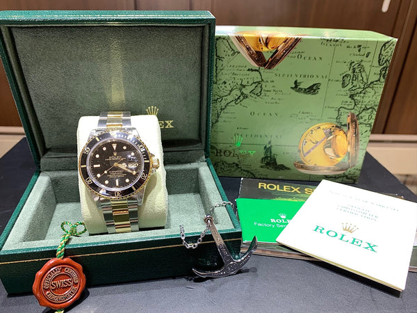 Rolex Submariner 18KT Yellow Gold & Stainless Steel 16613 - Pre-Owned