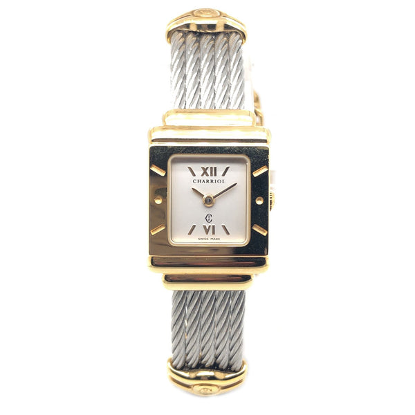 Charriol Steel Gold Plated Square - Certified Pre-Owned