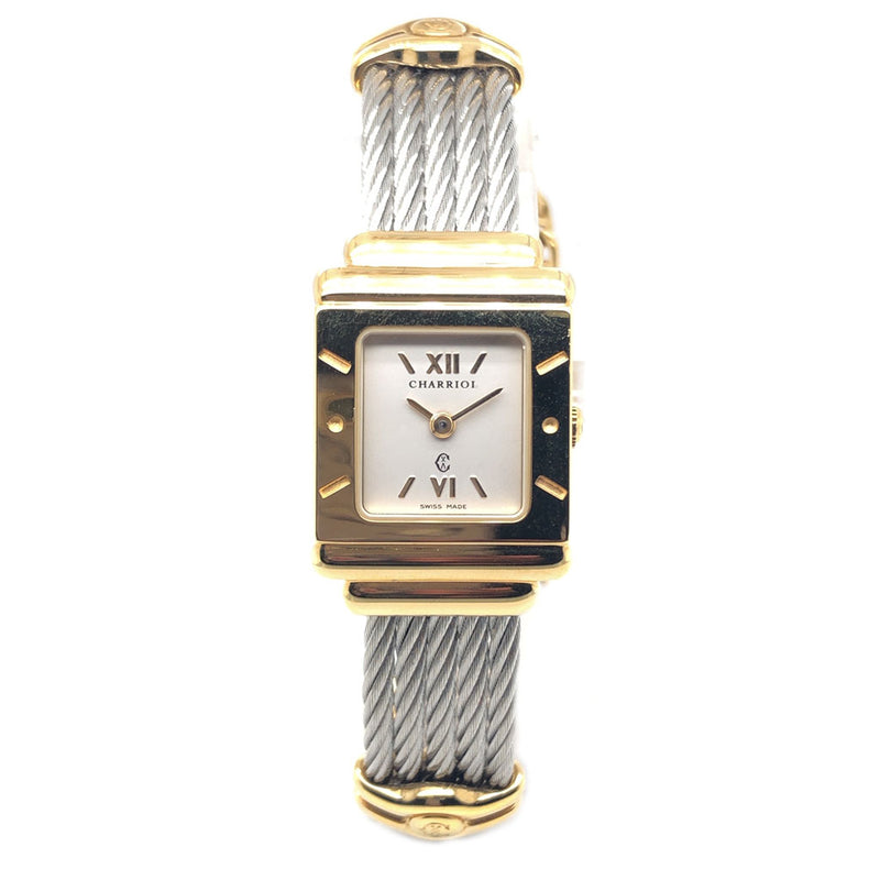 Charriol Steel Gold Plated Square - Pre-Owned