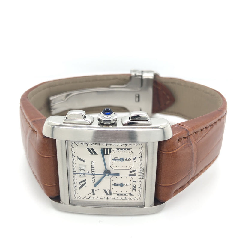 Cartier Tank Francaise Chronograph W51024Q3 - Certified Pre-Owned