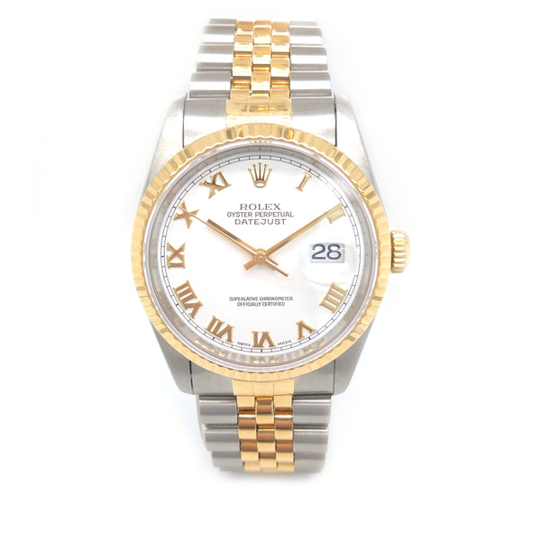 Rolex Datejust White Dial 36mm 16233 - Pre-Owned