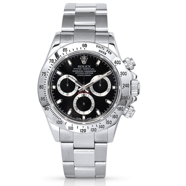 Rolex Daytona Black Dial Chronograph 116520 - Pre-Owned