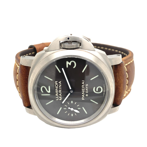 Panerai Luminor Marina 8 Days Brown Dial 44MM PAM 564 - Certified Pre-Owned