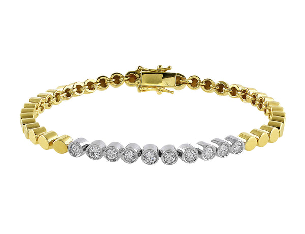 Estate 14k Yellow Gold Diamond Bracelet