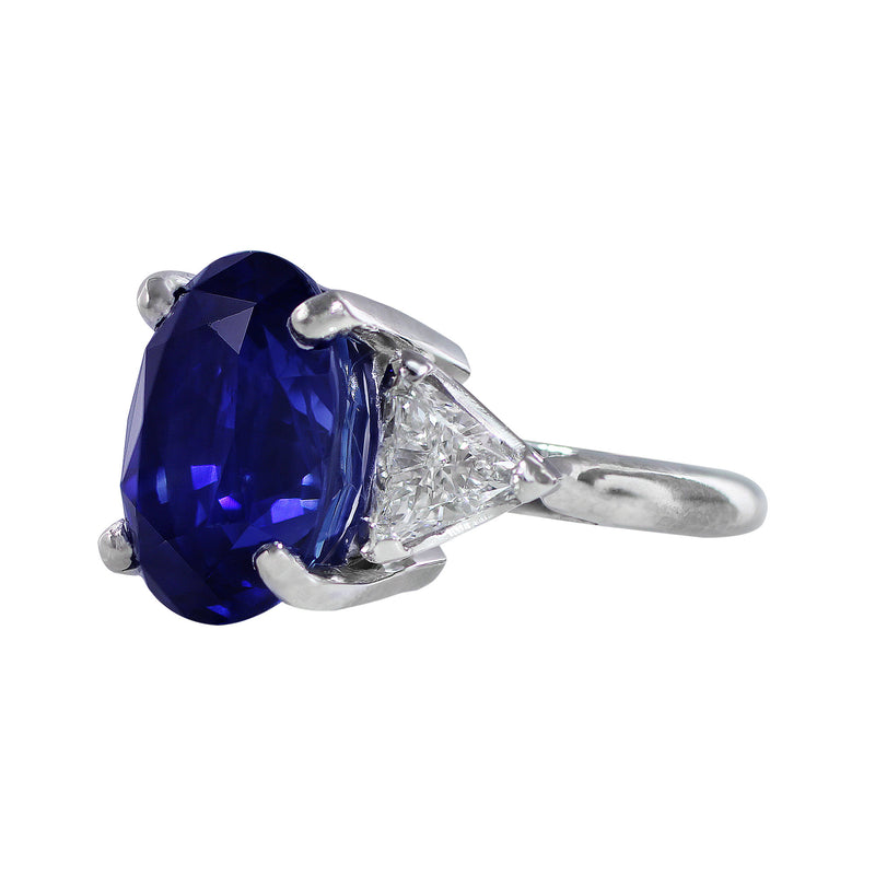 14ct Natural Ceylon Sapphire AGL Certified Ring in platinum