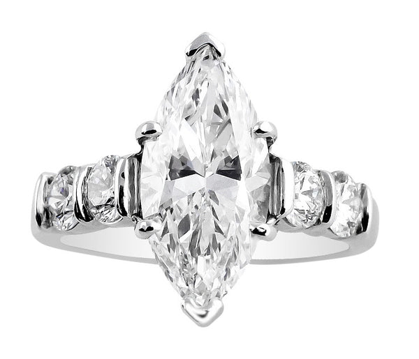 3ct Marquise Cut Diamond Ring, GIA-certified