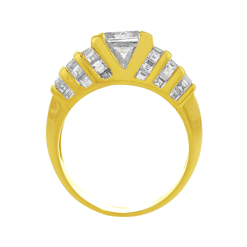 1.43ct Quadrillon Ring, center diamond GIA-certified