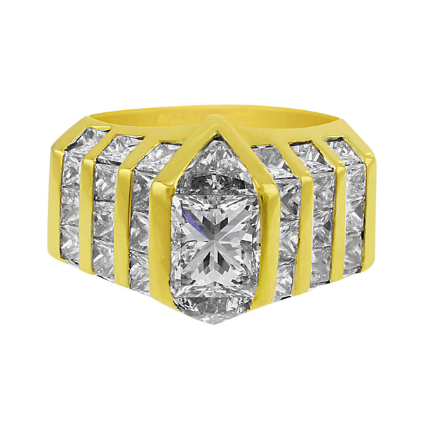 1.08ct Center Princess Cut Ring