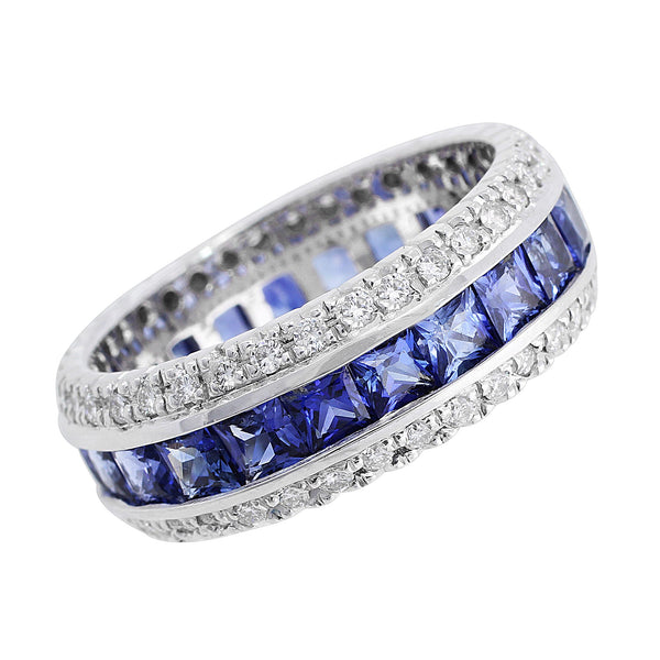 Estate Sapphire Diamond Eternity Band