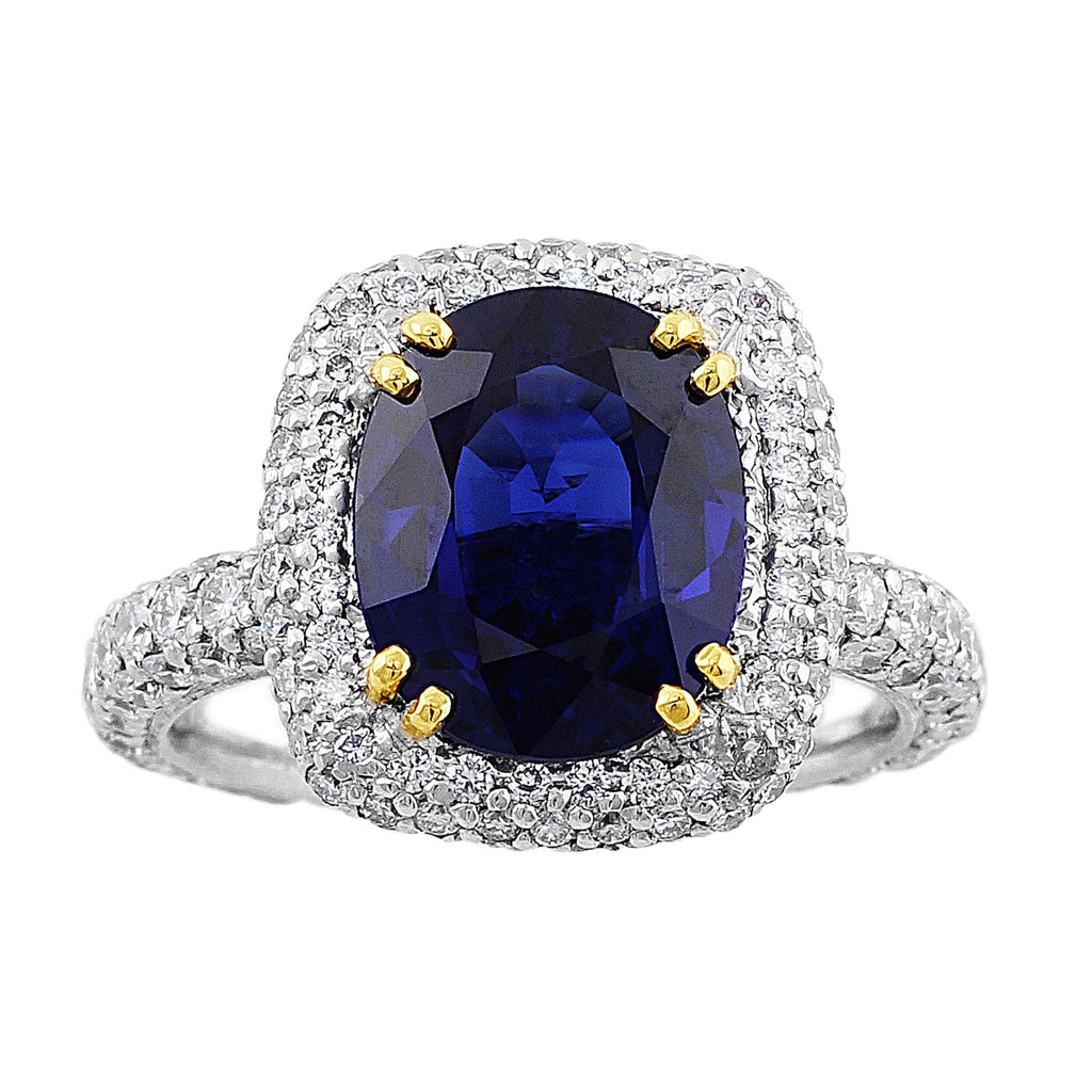 media made sapphire platinum gold rose custom wedding yellow anniversary engagement halo ring cushion diamond white