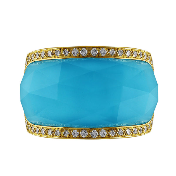 Estate Stephen Webster Turquoise Diamond Band