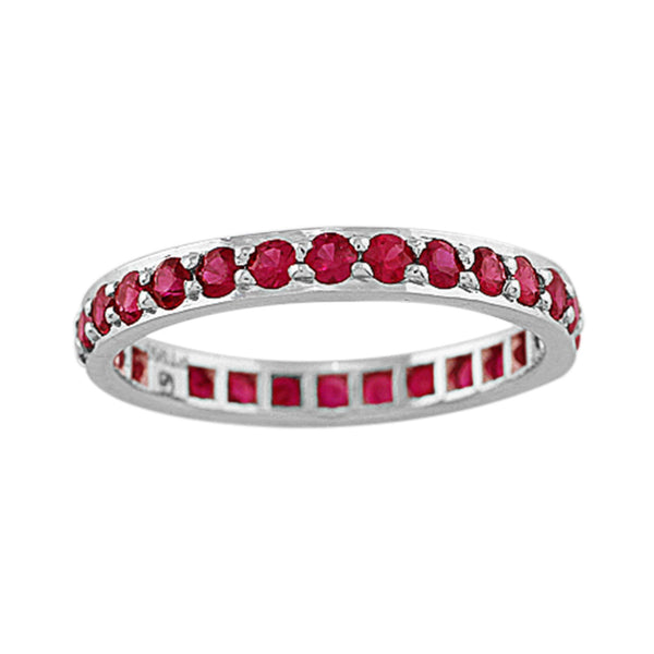 Gumuchian Ruby Eternity Band